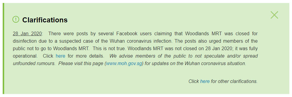 MOH wuhan virus clarification