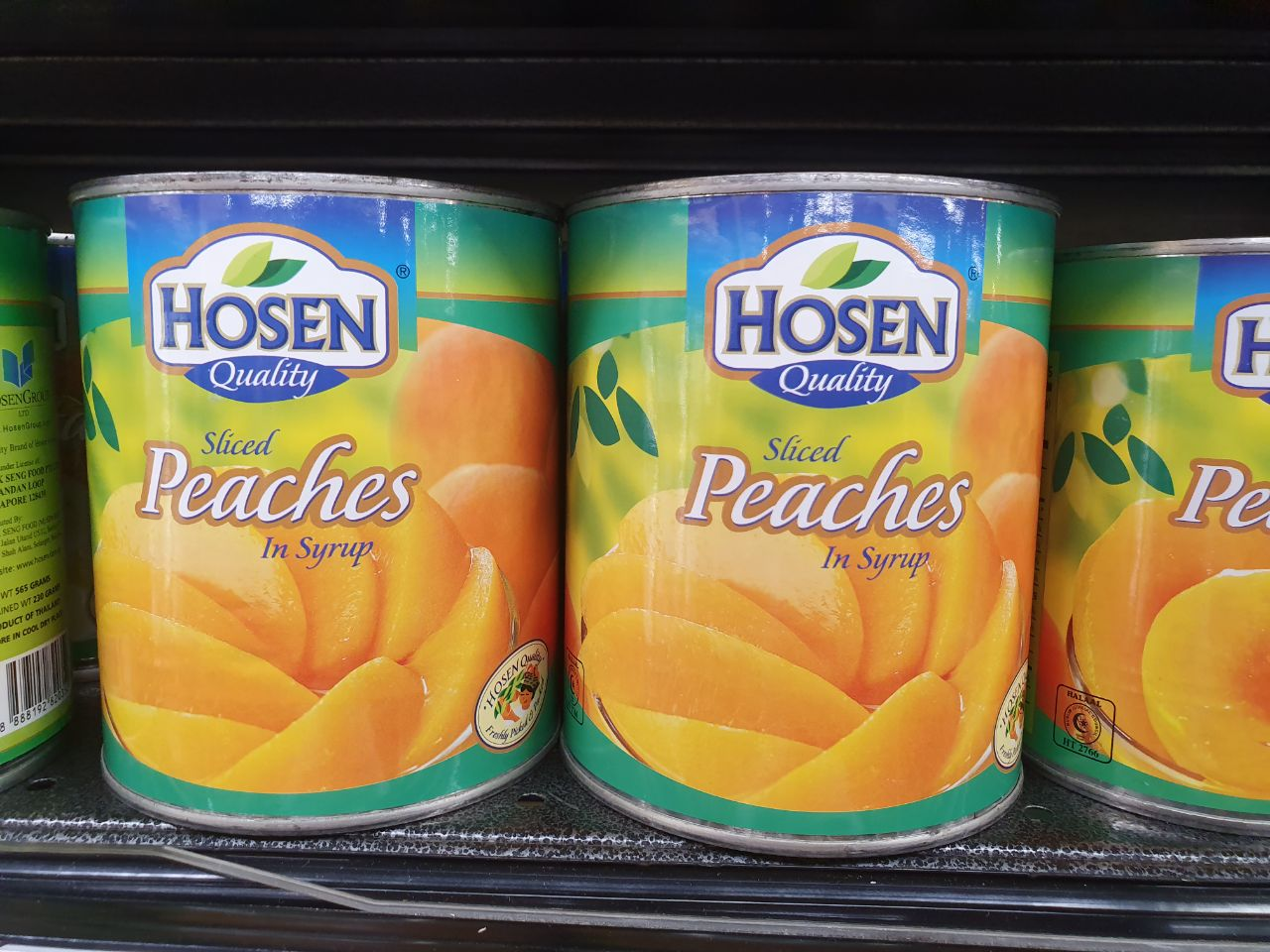 Canned food - sliced peaches