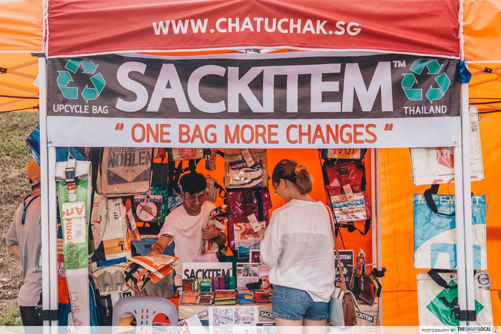 Upcycled bags Sackitem Chatuchak Singapore