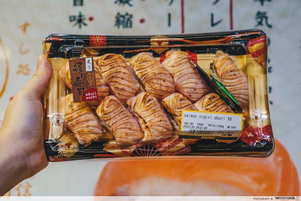 Salmon Nigiri Aburi Don Don Donki