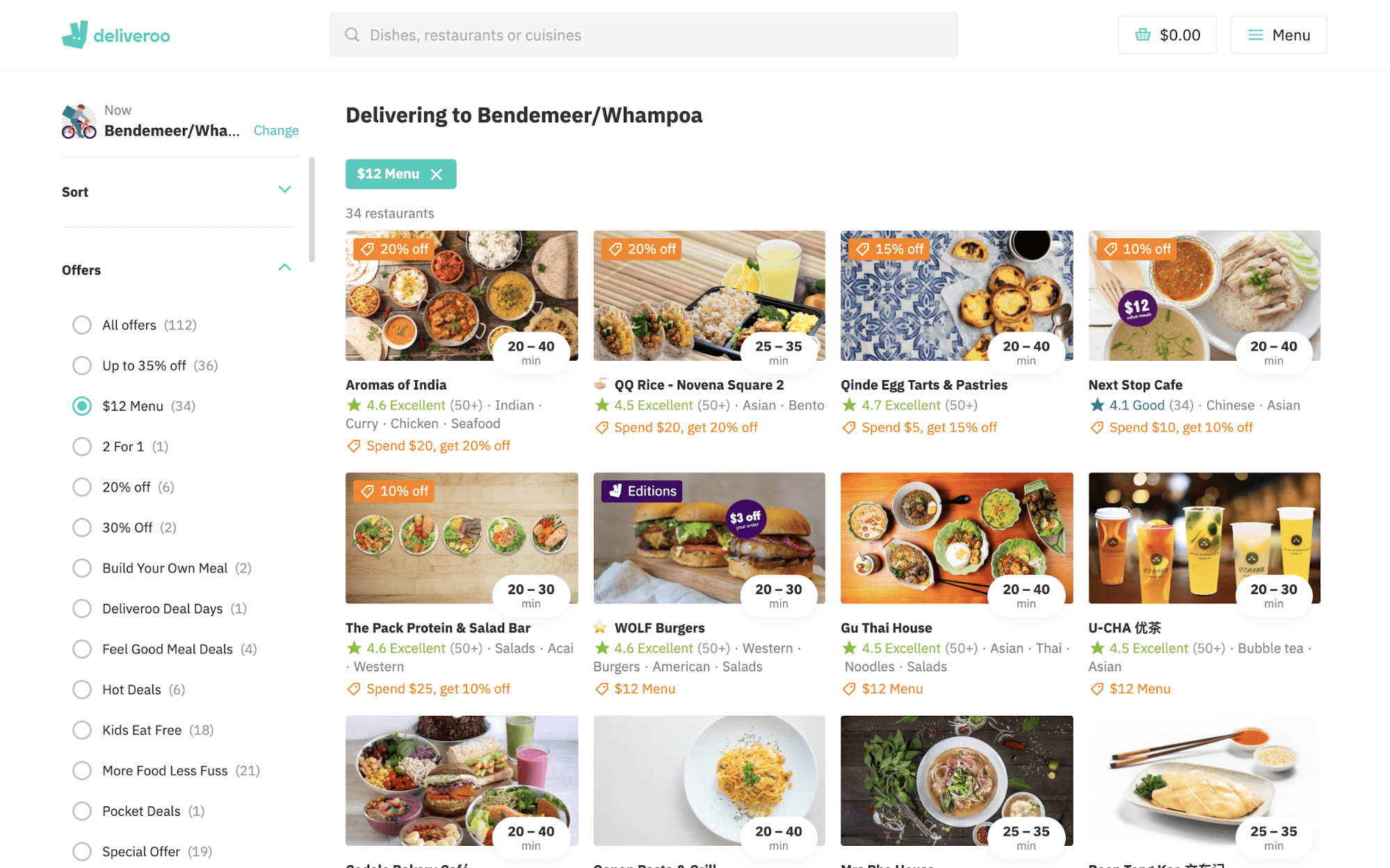 Deliveroo Food Delivery Site