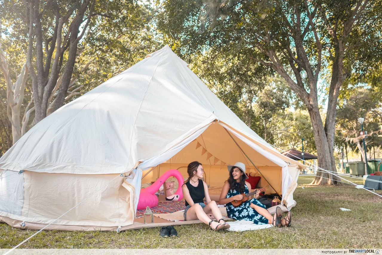 singles' glamping BBQ buffet things to do march