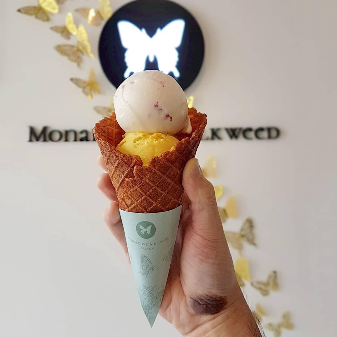 New cafe - Monarchs & Milkweed Gelato