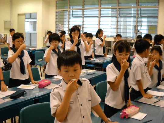 Temperature Taking Exercise Singapore School SARS