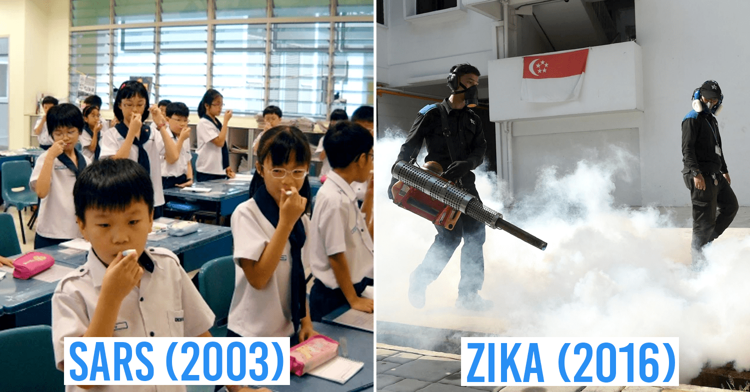 SARS ZIKA Past Pandemics in Singapore