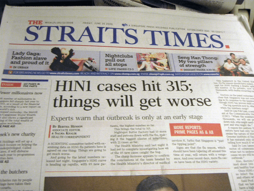 Swine Flu Singapore Straits Times