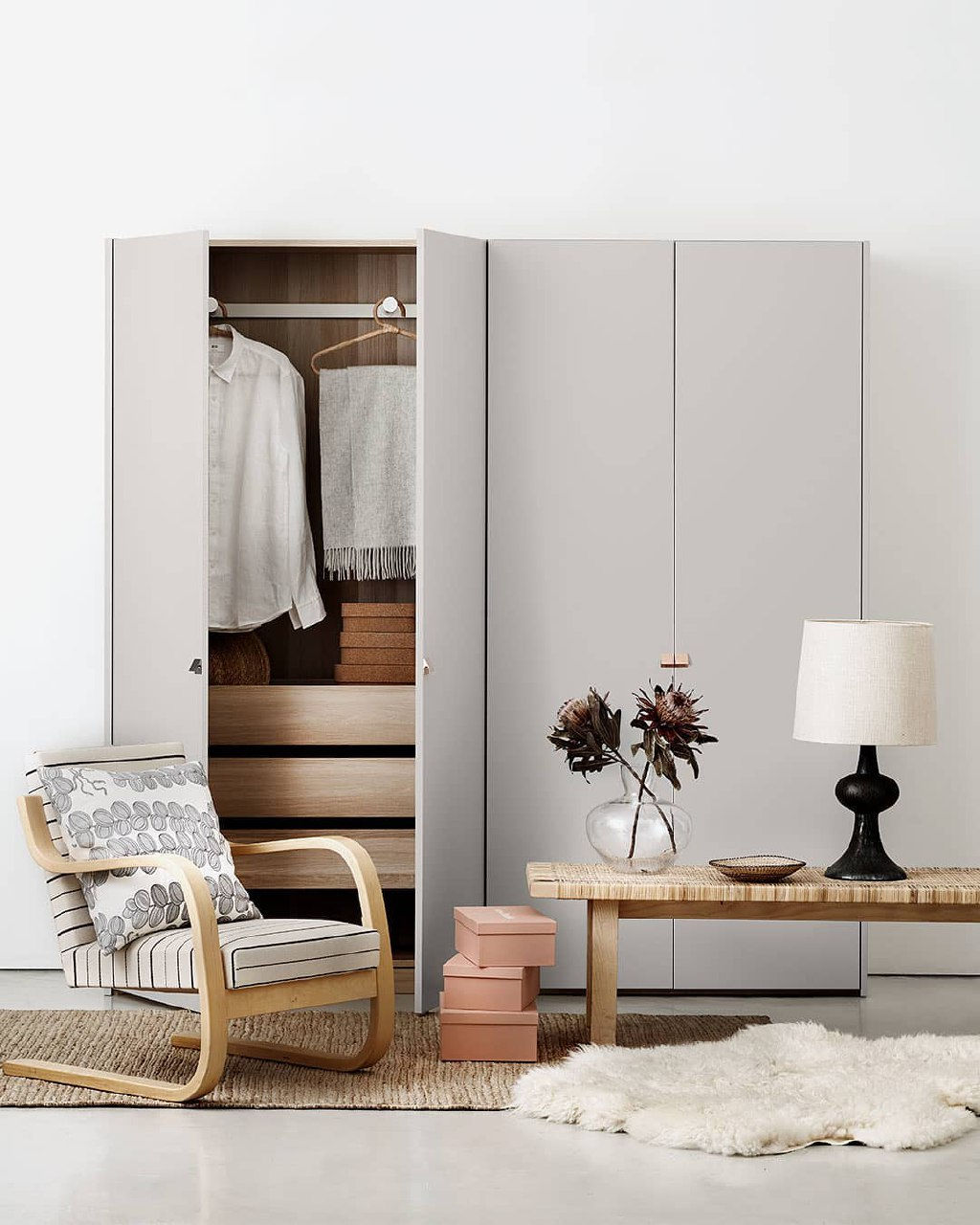 Standalone wardrobes are often affordable BTO household items that don't require you to decide on renovation