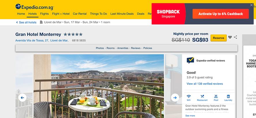 shopback expedia