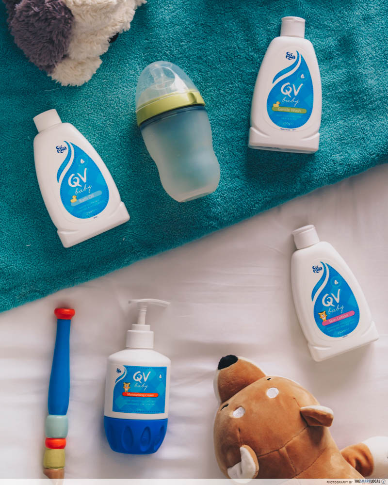 baby products flatlay