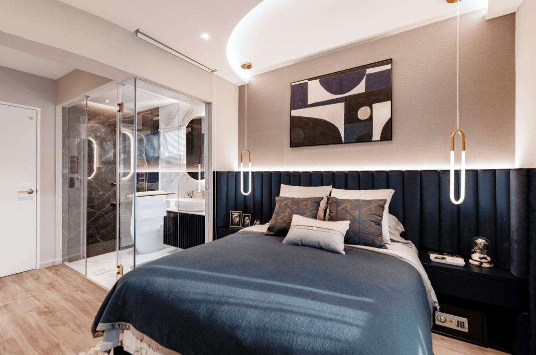Pastel-themed bedroom
