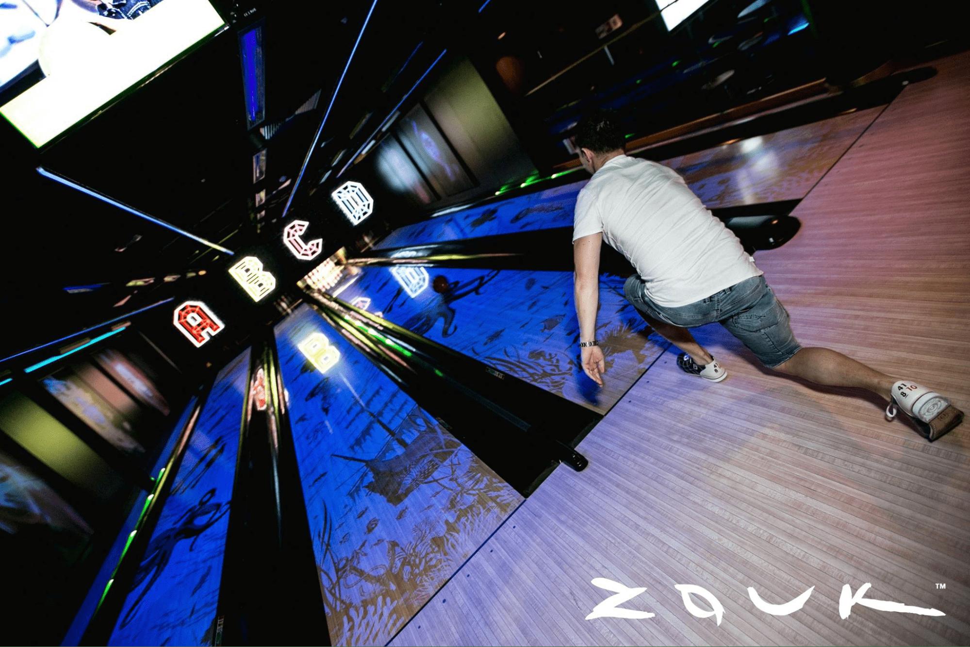 Neon bowling at Zouk at Sea