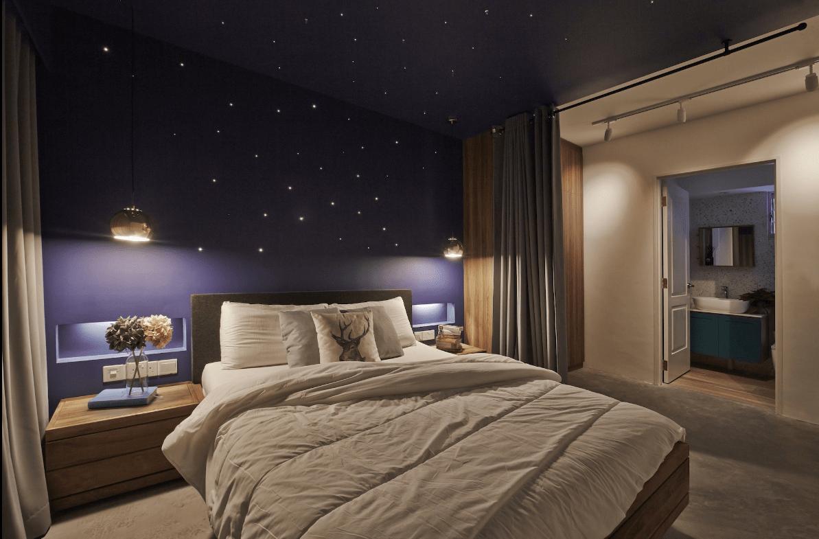 Rustic stargazing room