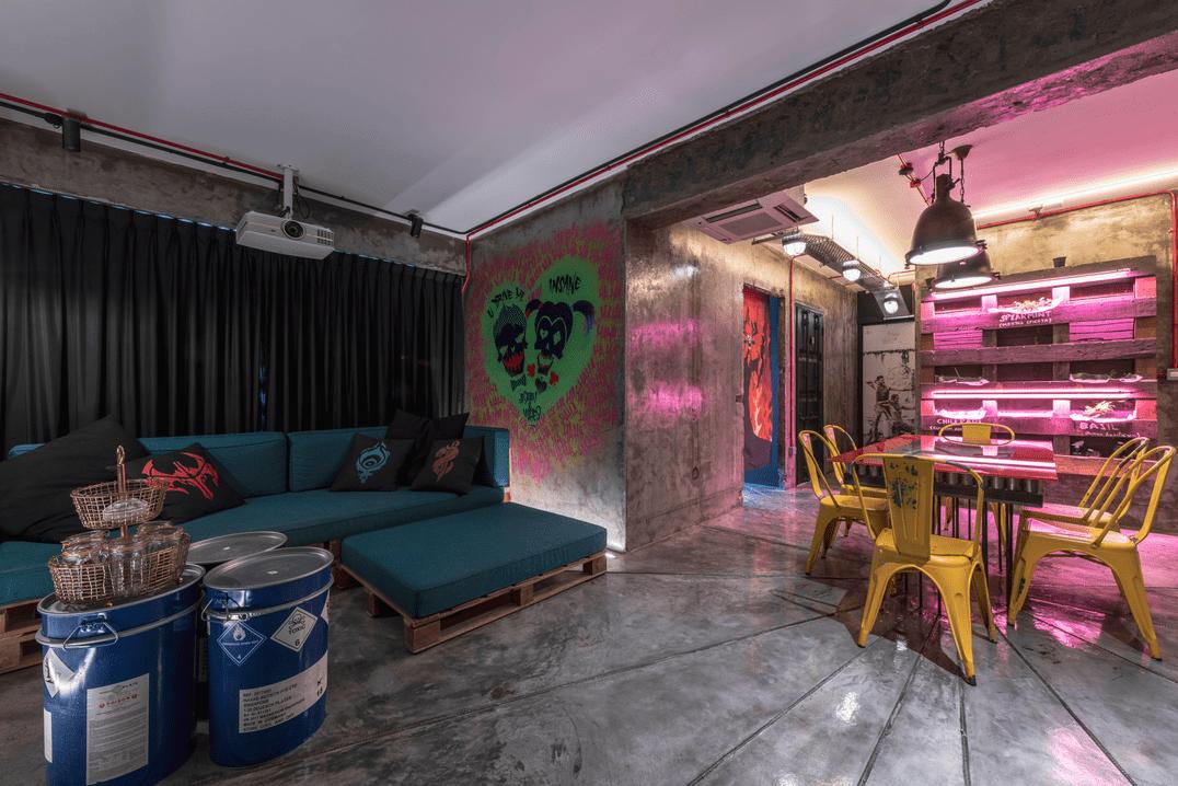 HDB renovation idea for hipster living room