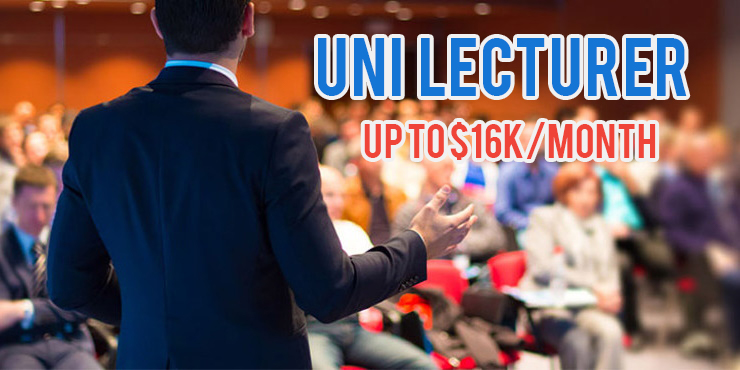 highest paying jobs university lecturer singapore