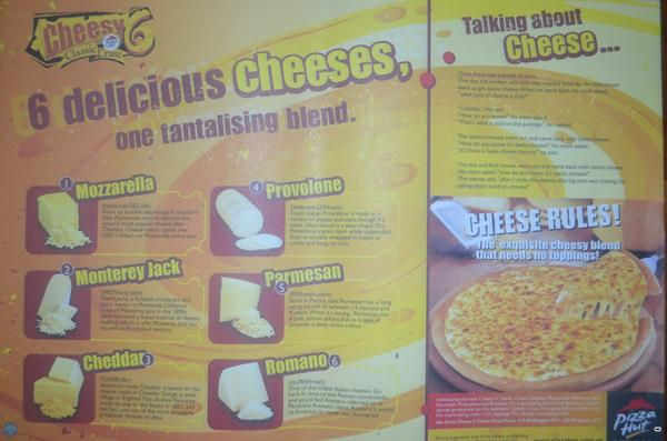pizza hut cheese