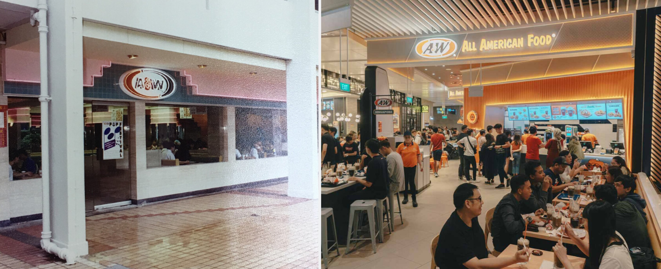 A&W - longest surviving fast food chains in Singapore