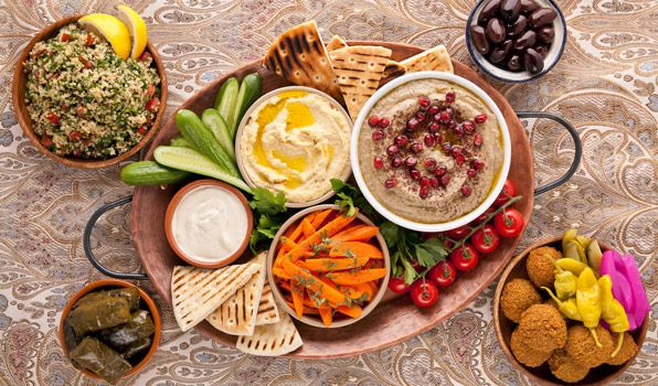 middle eastern sharing platter