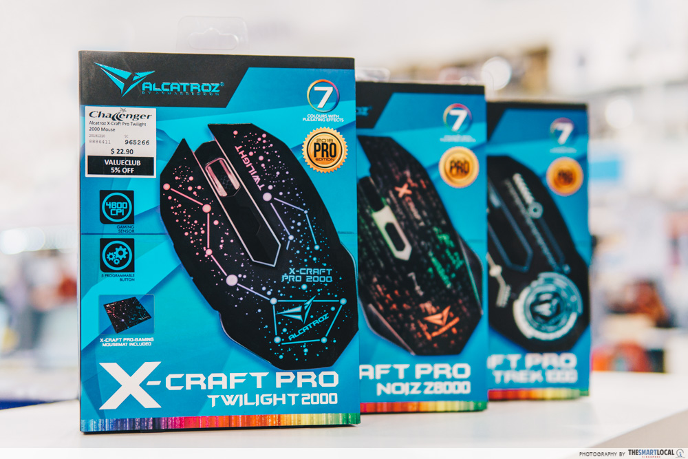 Alcatroz X-Craft Pro series gaming mouse
