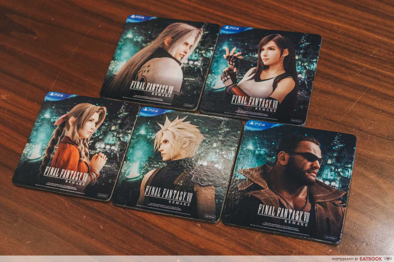 Final Fantasy Pop-Up - free coasters