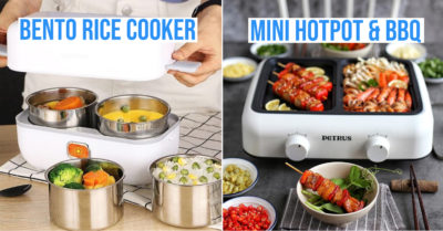 kitchen appliances for single people - bento rice cooker and mini hotpot