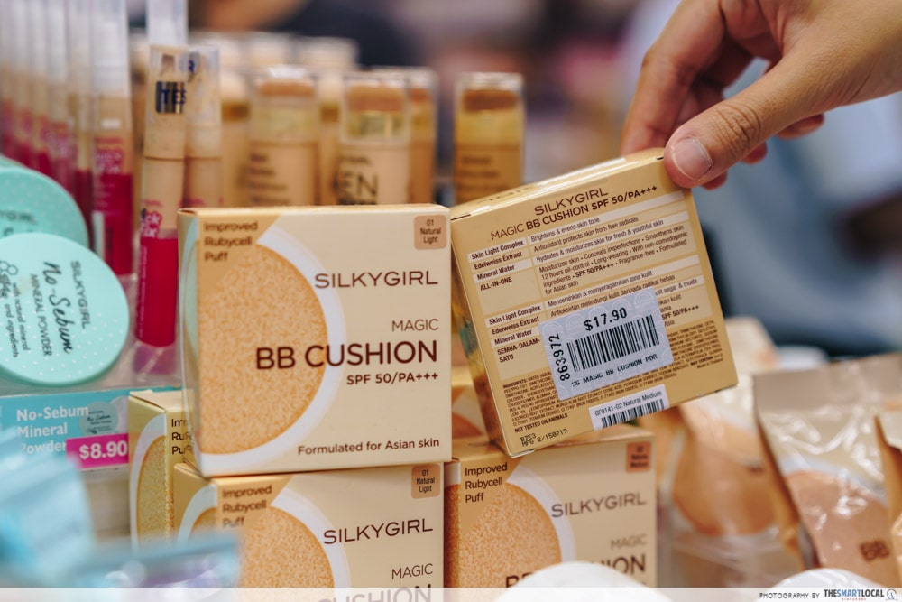 BB Cushion Cheap Makeup and Skincare is a cheap makeup option in Mustafa Centre.