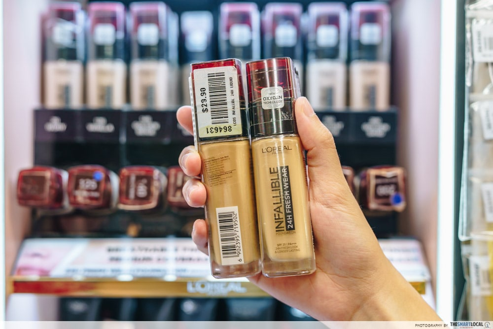 Loreal Infallible 24H Freshwear is a cheap makeup product to get in Mustafa Centre.