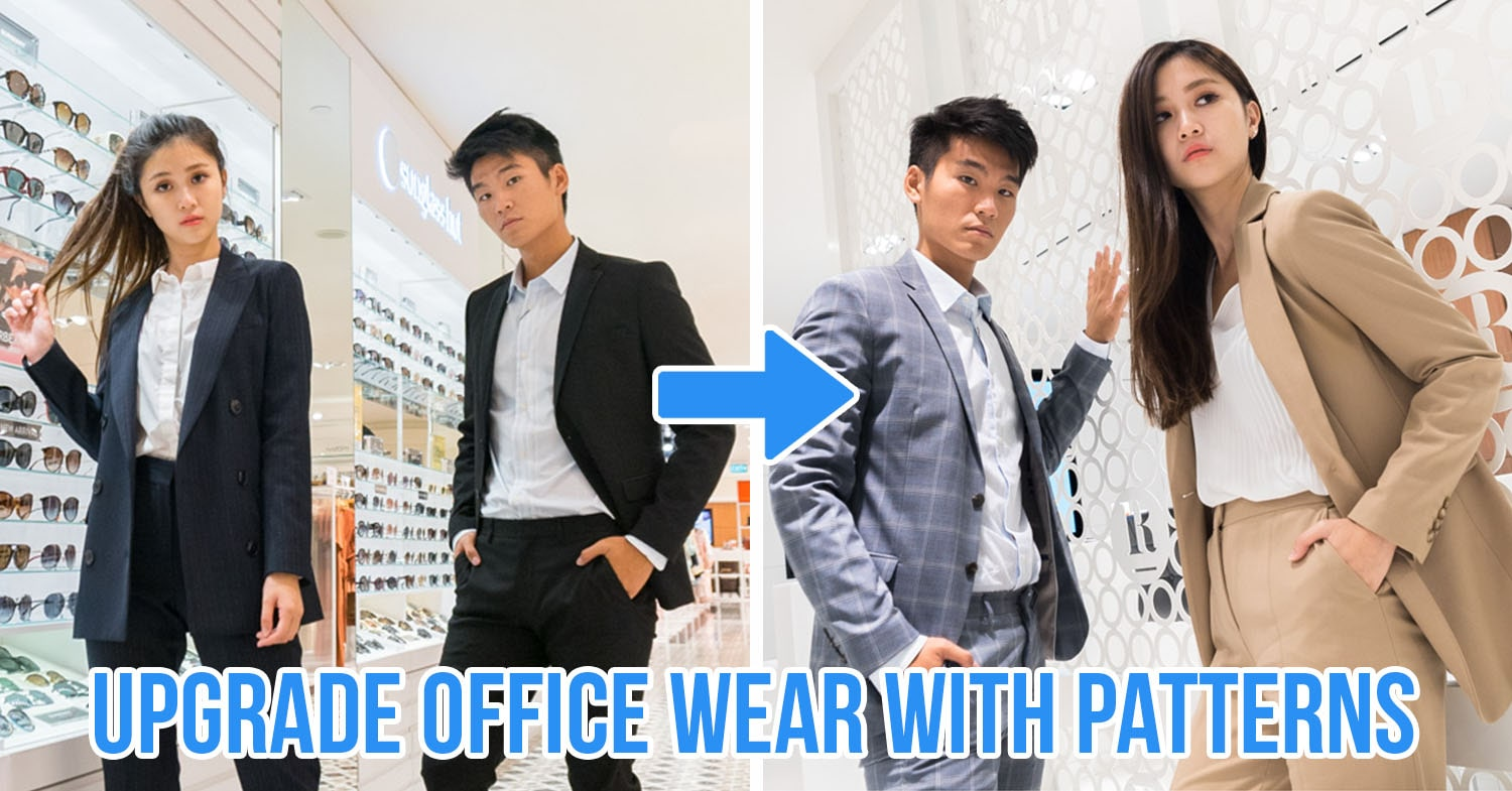 office wear neutrals and patterns