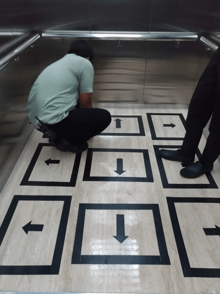 Lift Markings for Social Distancing