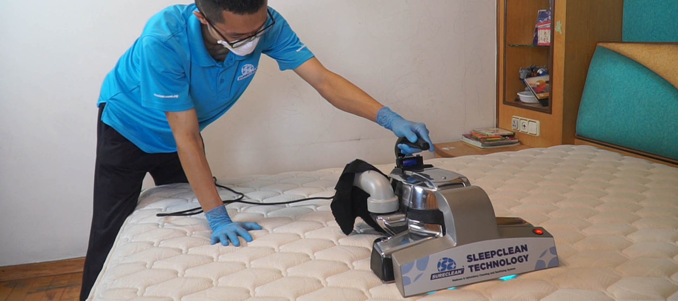 Sureclean is a cleaning service in Singapore that provides sanitisation services, including for your mattresses.