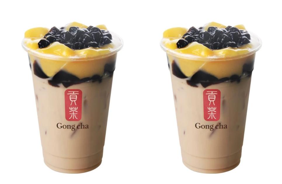 gong cha earl grey milk tea with 3j