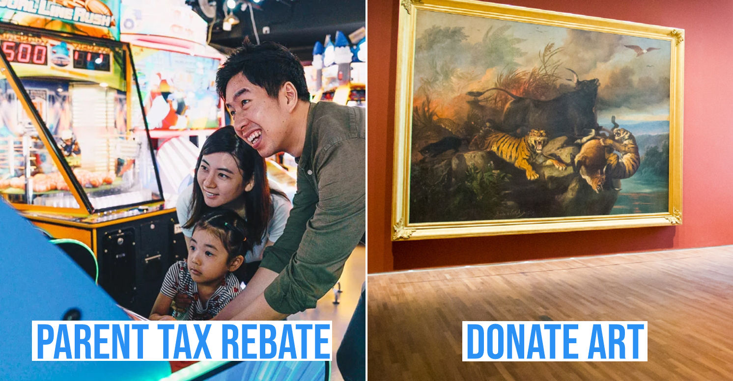 Get tax rebates by being a parent or donating art
