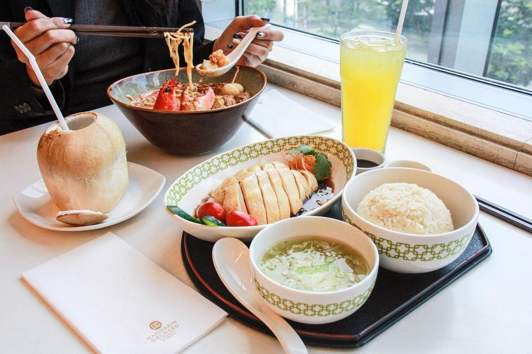 Mandarin Chicken Rice at Chatterbox, Mandarin Orchard Hotel for your Singapore staycation.