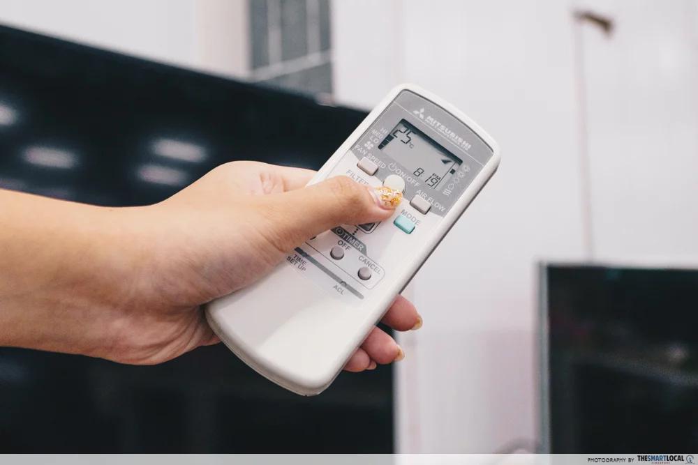 setting aircon temperature