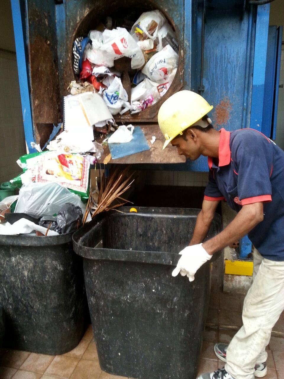 rubbish chute retrieval - town council services