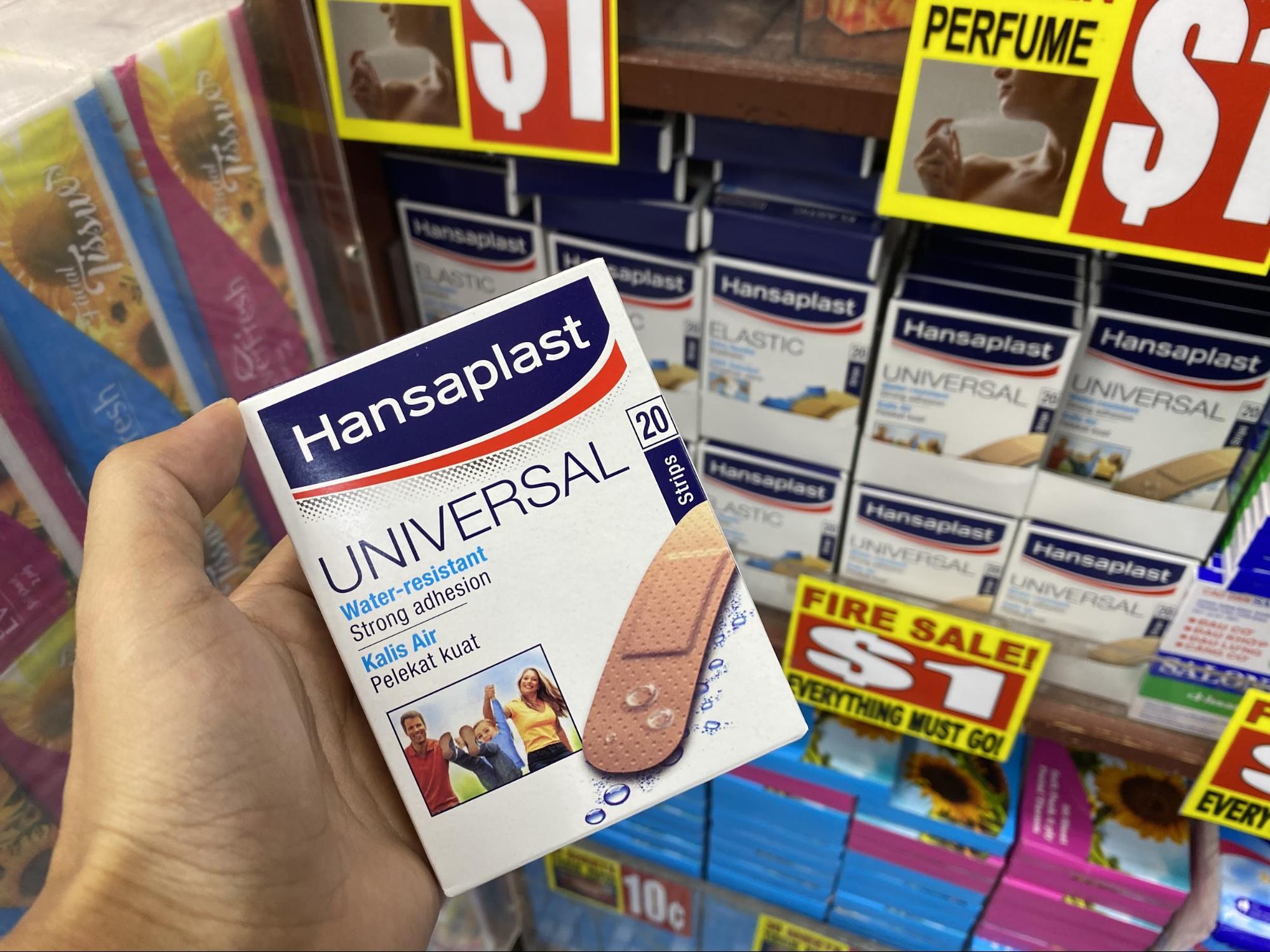 Hansaplast at the Value Dollar store.
