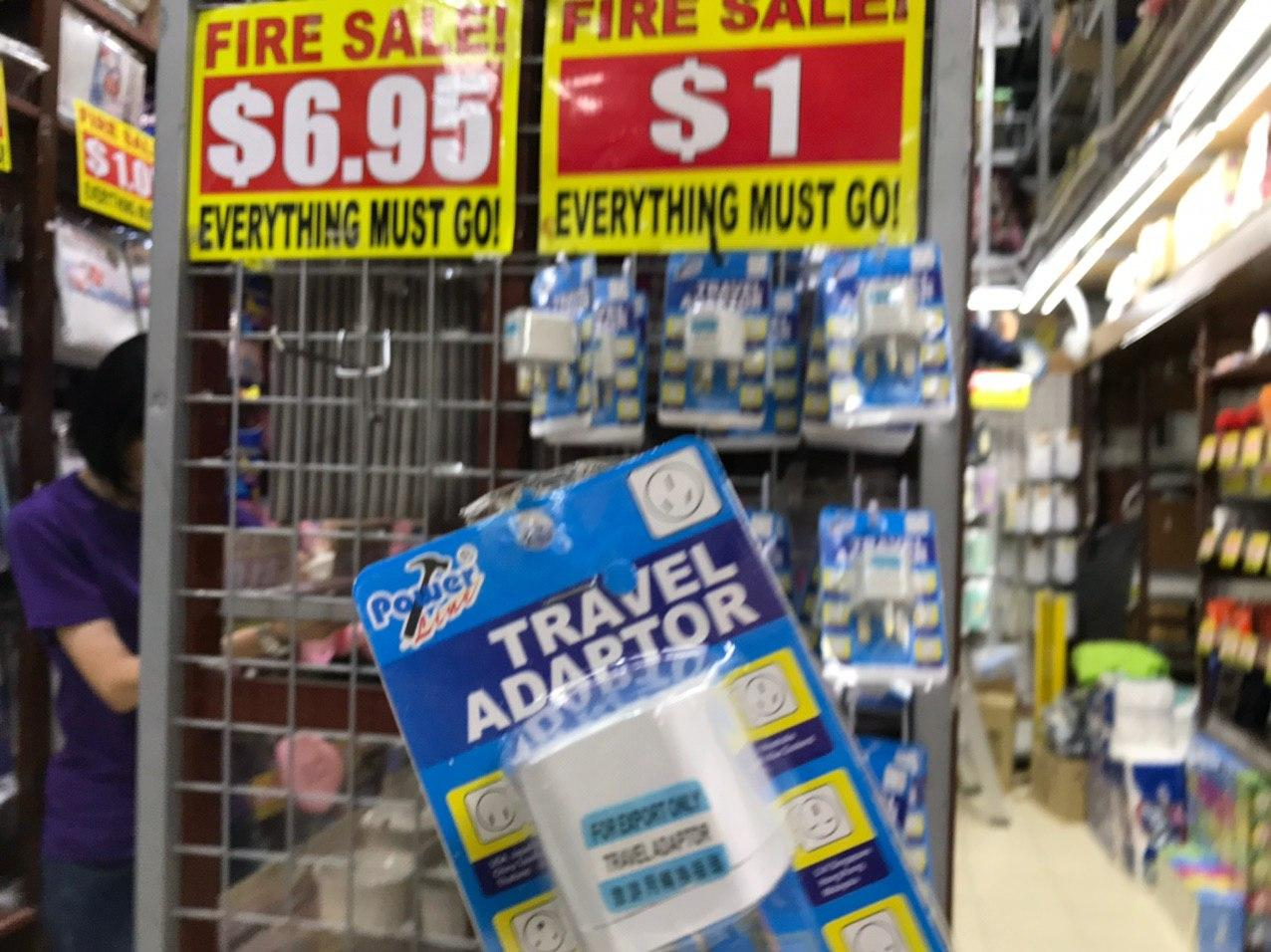 Travel adapter.