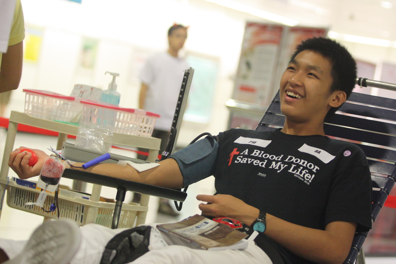 Volunteers who donate blood can save lives in Singapore