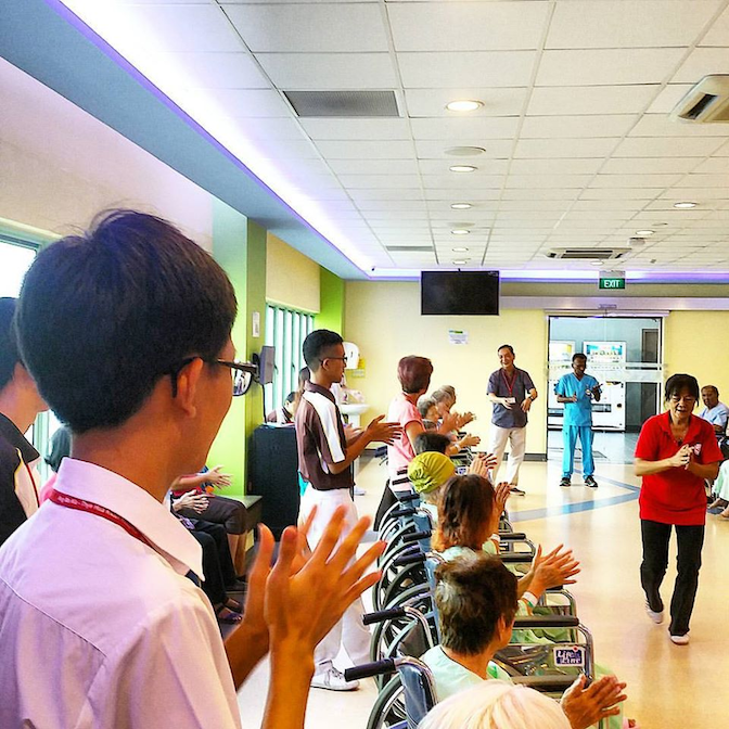 The Ang Moh Kio - Thye Hua Kwan hospital is a great place to cheer seniors up while they rehabilitate from treatment
