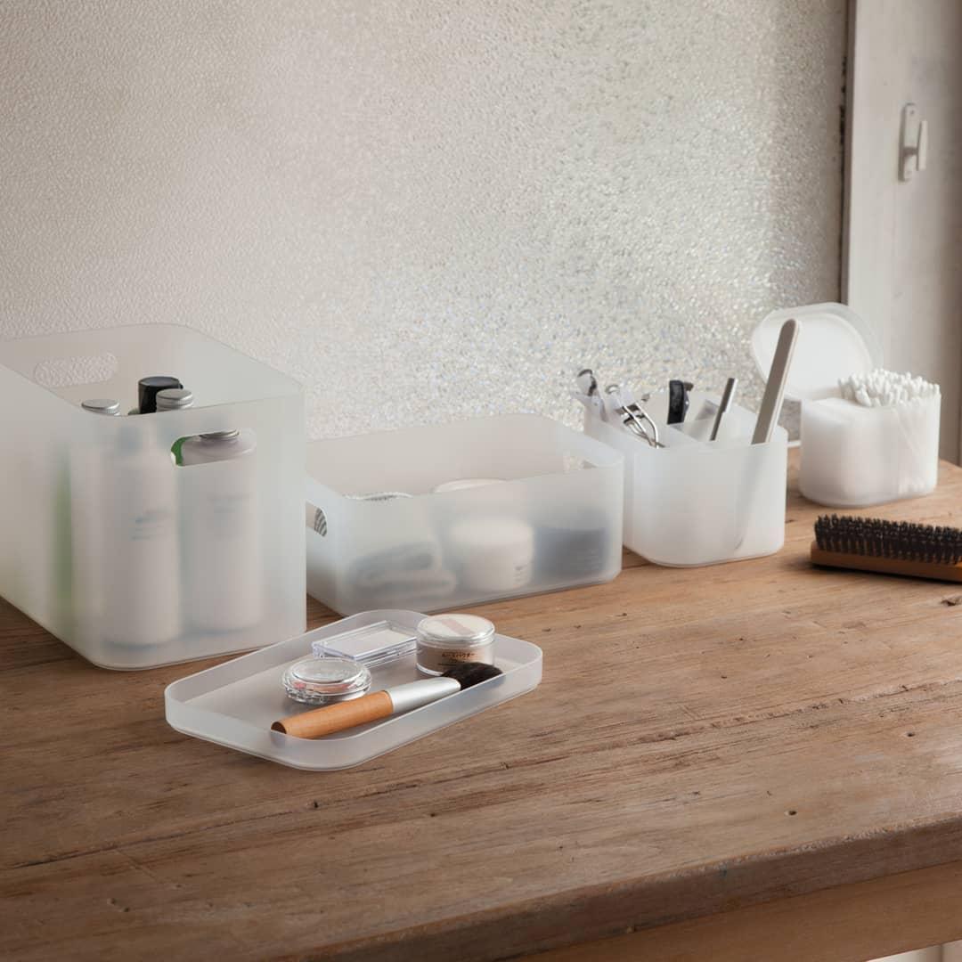 Muji items: Makeup containers