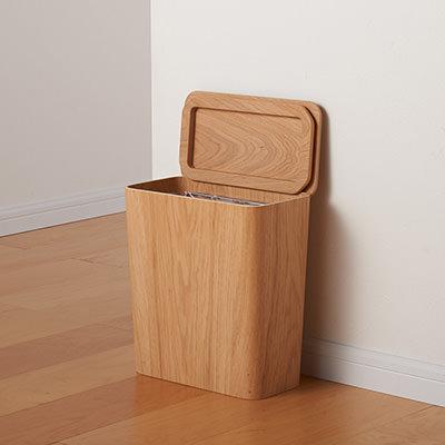 Muji Wooden dustbin
