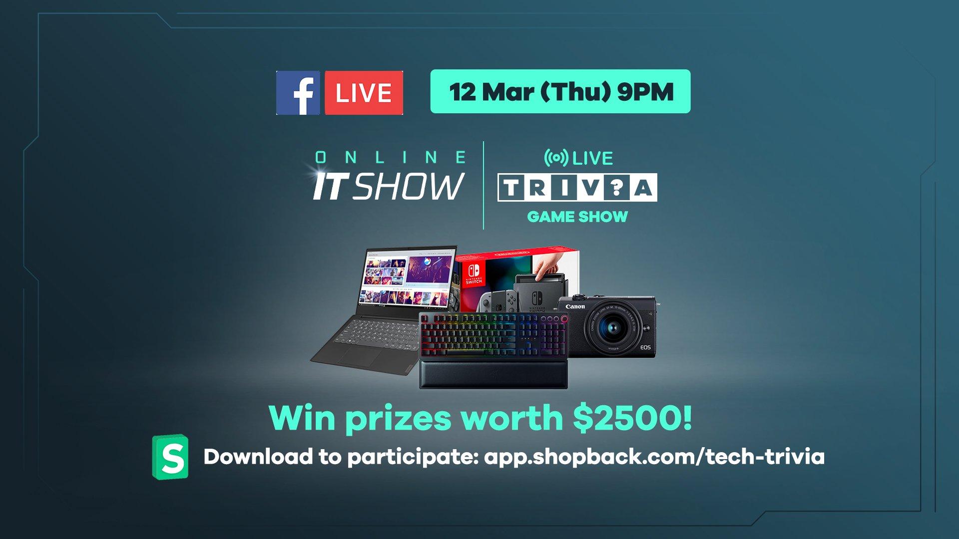 ShopBack IT Sale 2020 Live Trivia Show