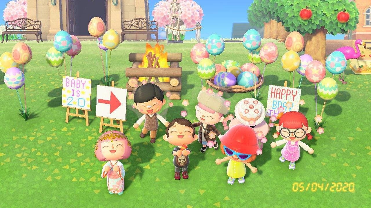 Birthday surprises on Animal Crossing