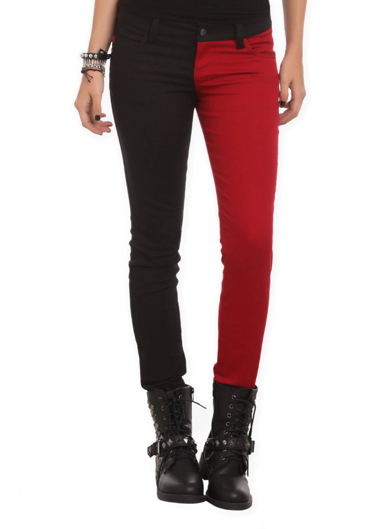 half half skinny jeans