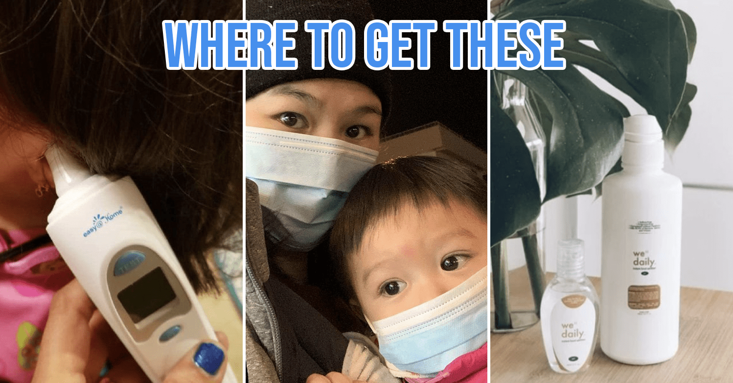 masks, hand sanitisers and thermometers in Singapore