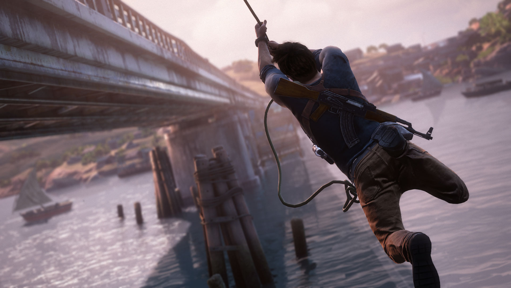 Uncharted 4 on the PS4