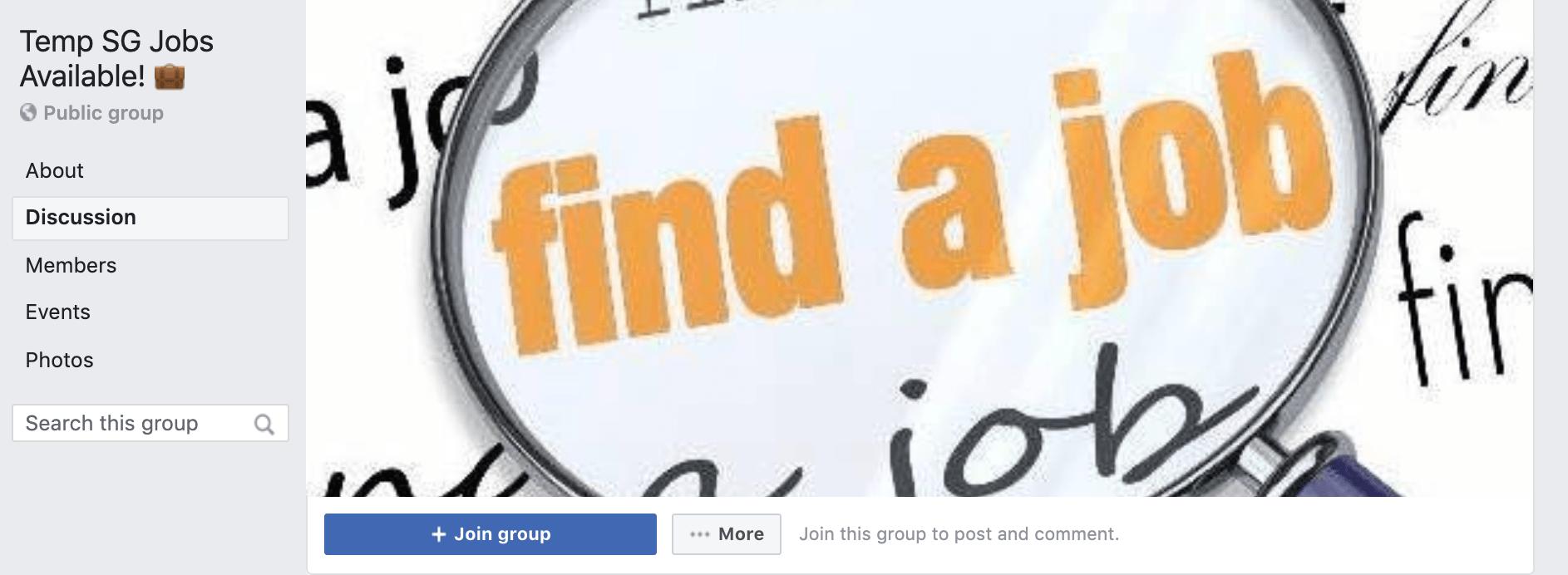 Temp SG Jobs FB Page