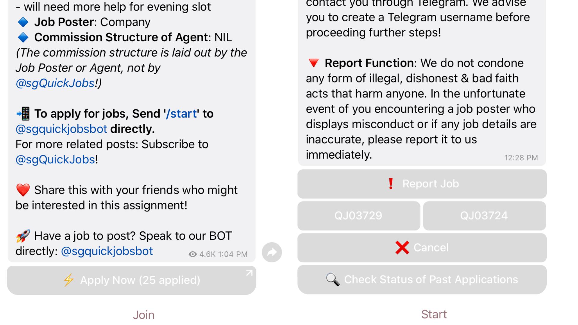 Telegram Channel for Jobs in Singapore
