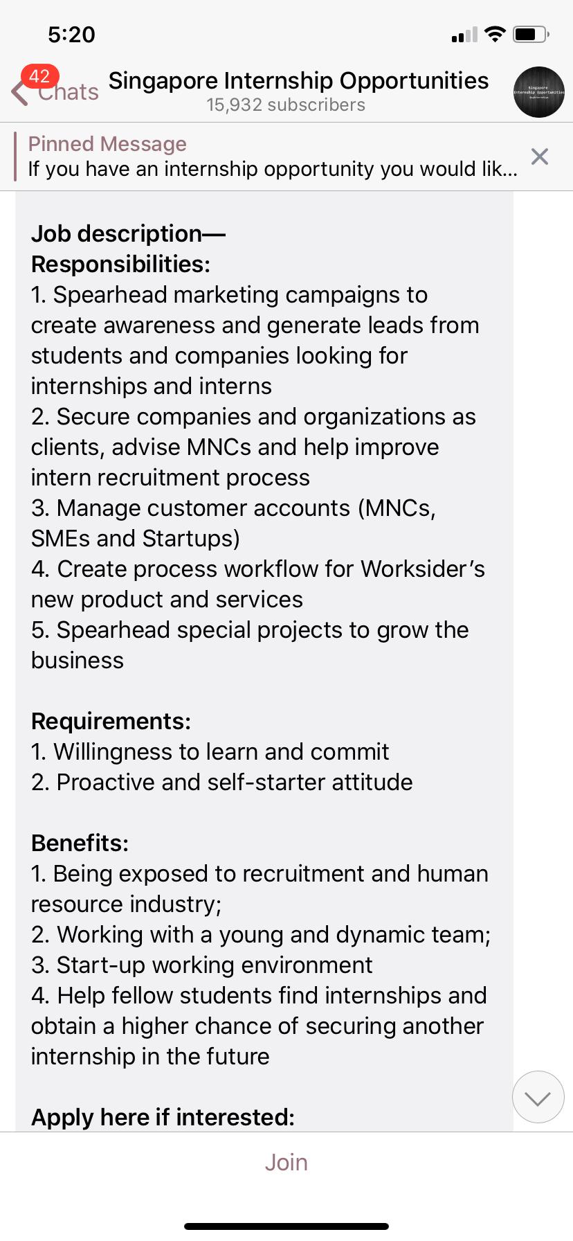 Telegram Job Opportunities