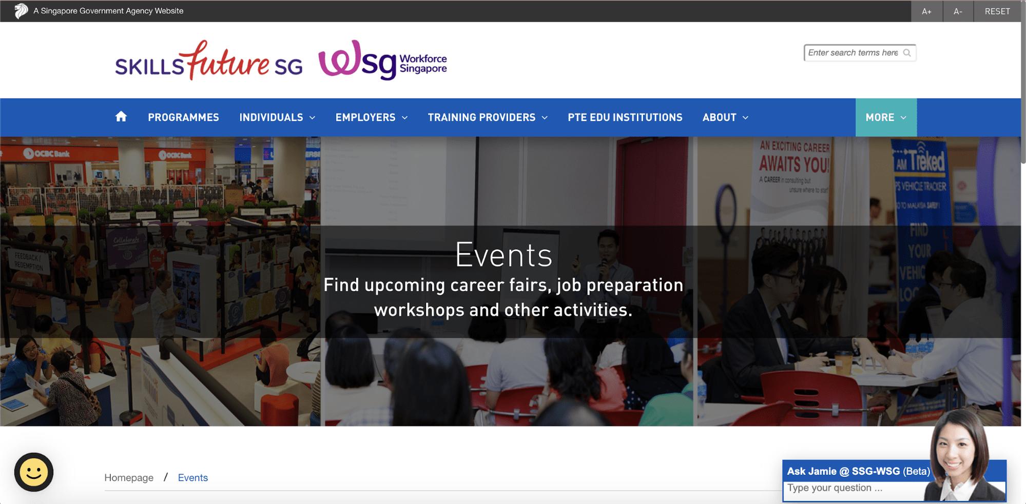 SkillsfutureSG Website