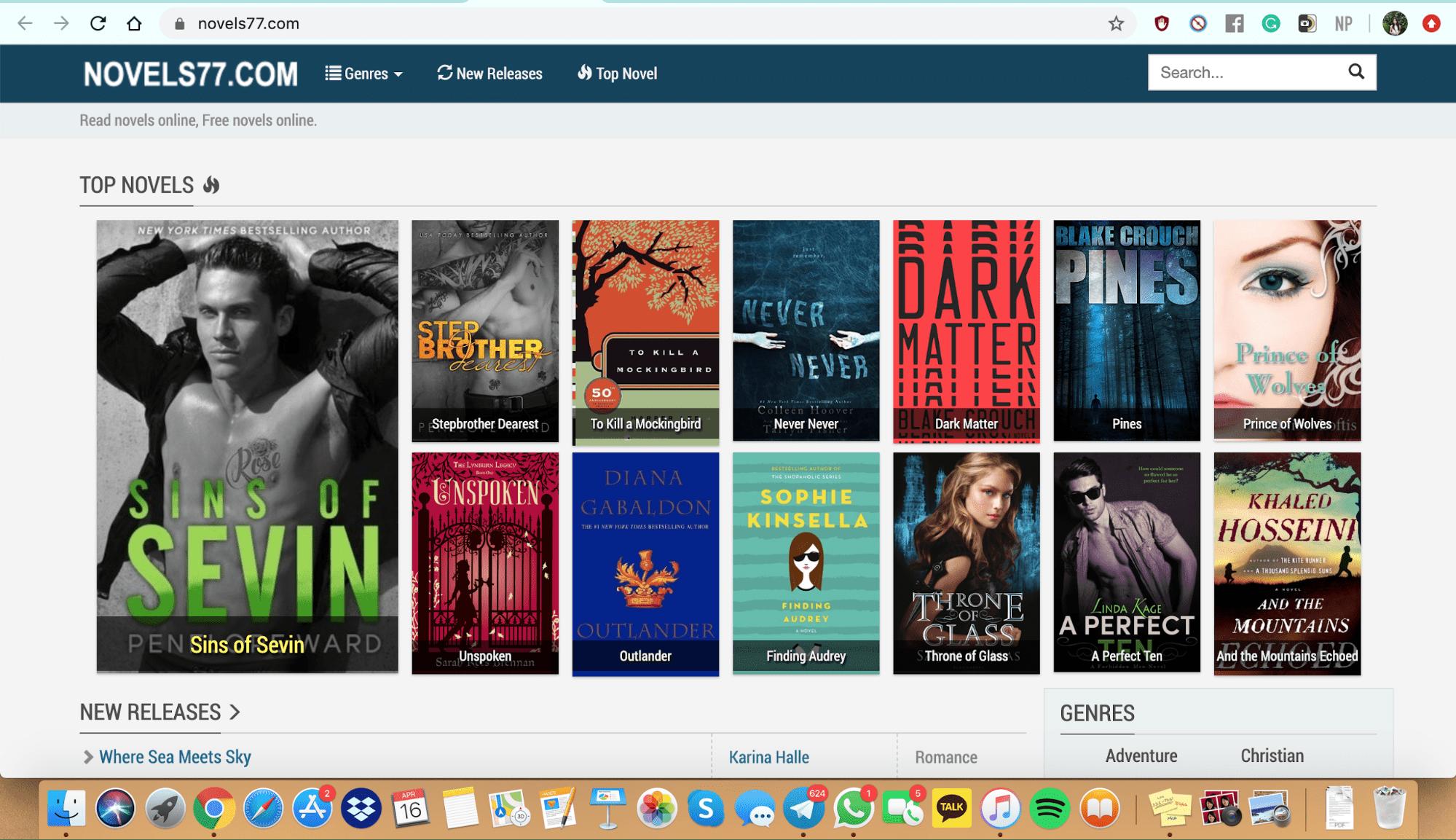 Free online books: Novel77